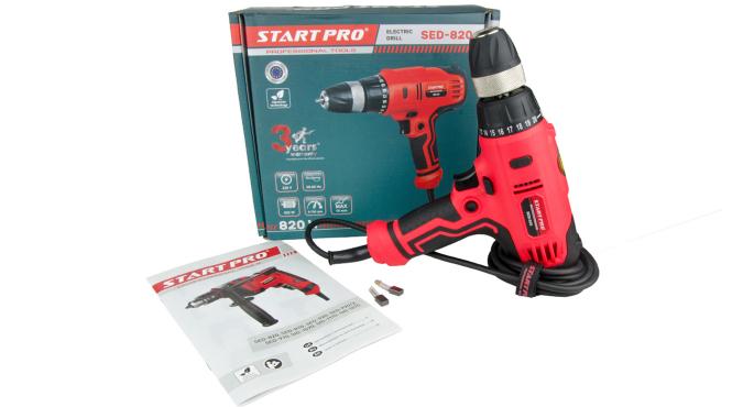 Дрель электрическая Start Pro SED-820 - 9