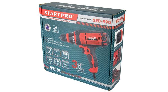 Cетевой шуруповерт Start Pro SED-990 - 14
