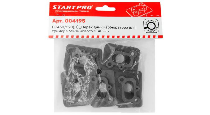 BC430/520(H)_Перехідник карбюратора для тримера бензинового 1E40F-5 Start Pro 4195 - 4