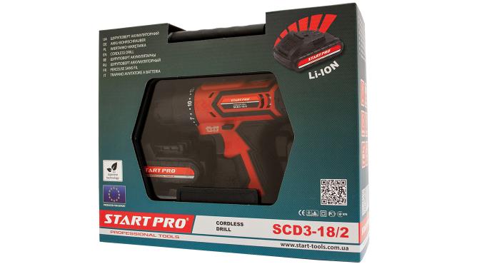 Шуруповерт аккумуляторный Start Pro SCD3-18/2 - 6