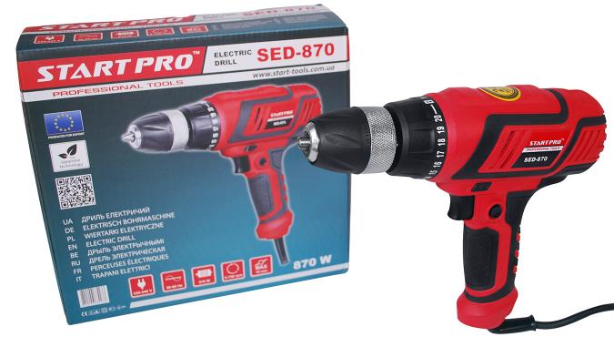 Дрель электрическая Start Pro SED-870 - 5