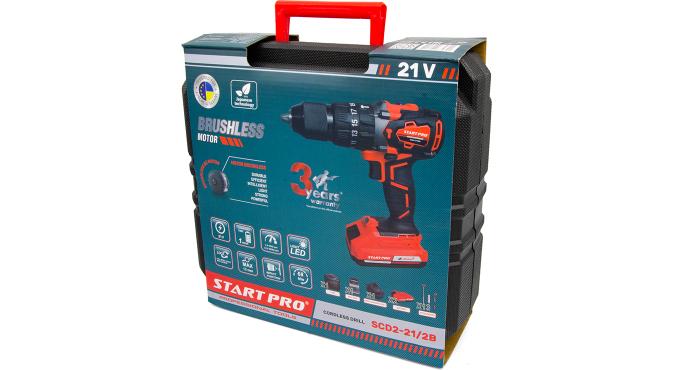 Шуруповерт аккумуляторный Start Pro SCD2-21/2В BRUSHLESS - 11