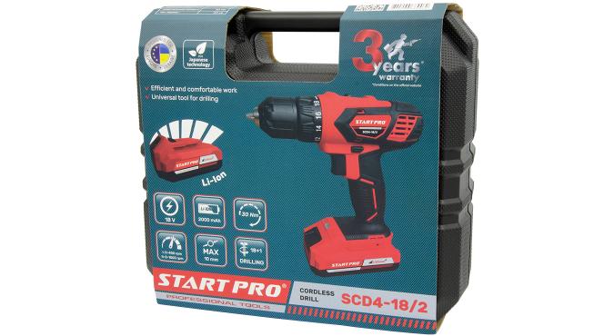 Шуруповерт аккумуляторный Start Pro SCD4-18/2 - 9