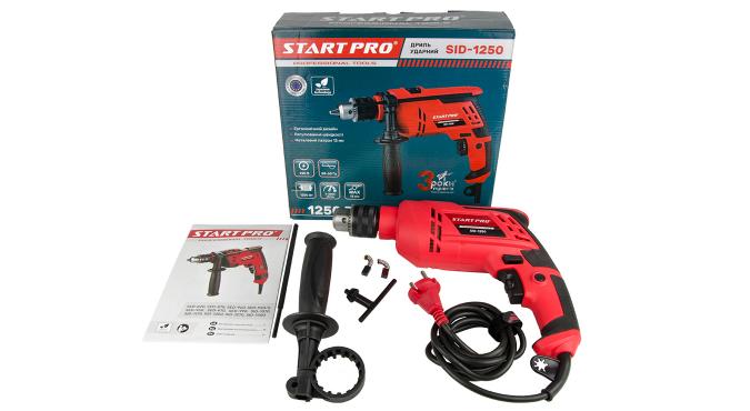 Дрель ударная Start Pro SID-1250 - 8