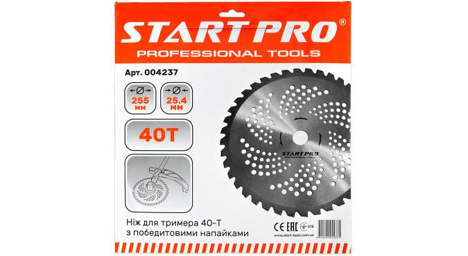 Нож для триммера 40-Т с победитовыми напайками D255 мм Start Pro 4237 - 2