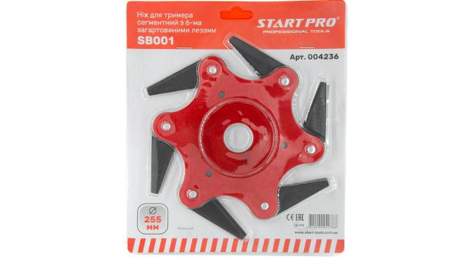 Нож для триммера сегментный с 6-мя закаленными лезвиями SB001 Start Pro 4236 - 3