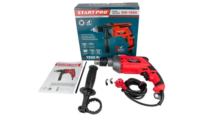 Дрель ударная Start Pro SID-1300 - 11