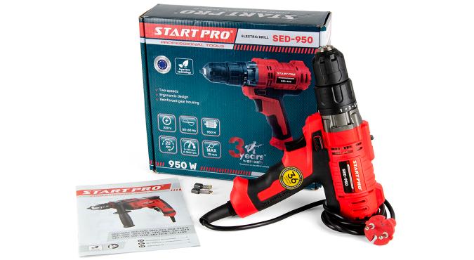 Дрель электрическая Start Pro SED-950 - 10